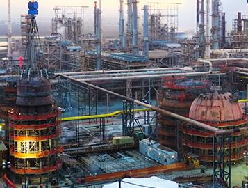 Fluidized catalytic cracking units at Chevron Richmond Refinery.